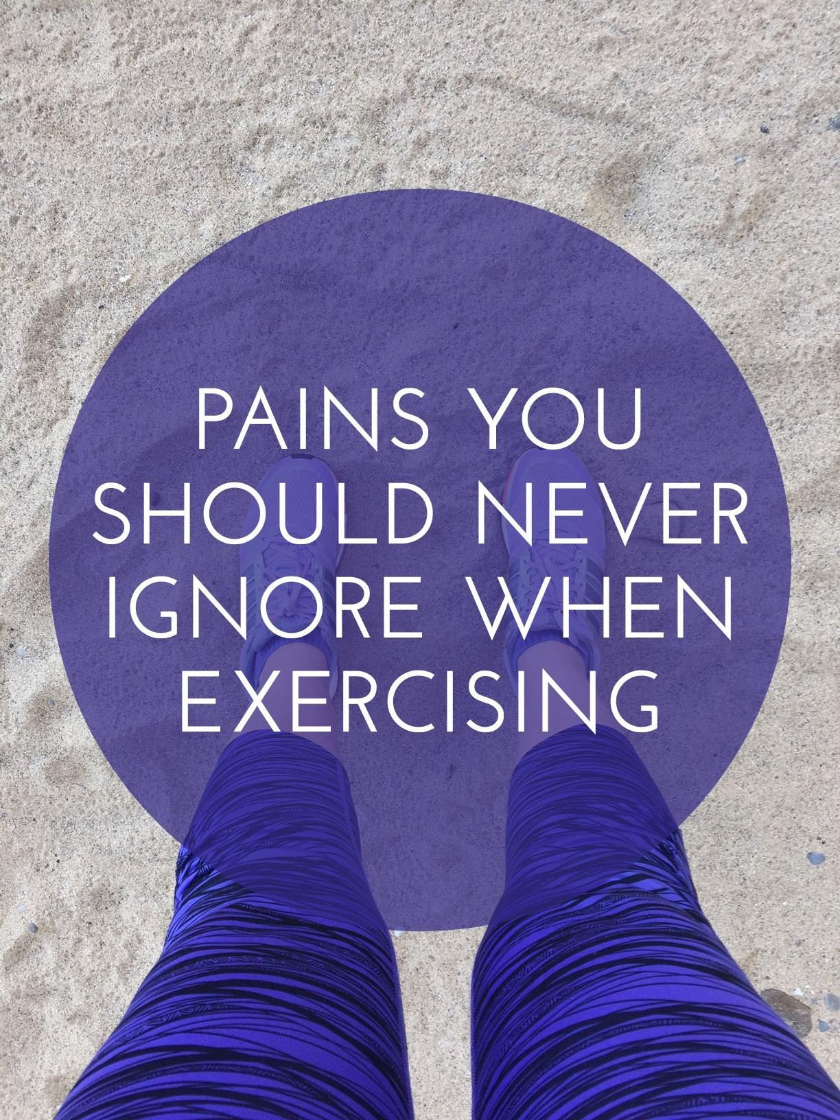 Pain when exercising